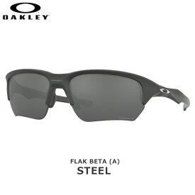 オークリー サングラス 偏光 アジアンフィット フラック OAKLEY FLAK BETA (A) フレーム:Steel レンズ:Prizm Black Polarized oky-sun