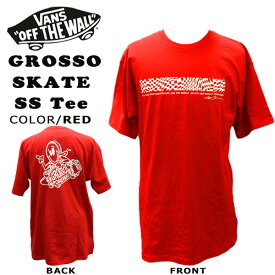 US VANS GROSSO SKATE SS Tee RACING RED Tシャツ ジェフグロッソ バンズ ヴァンズ メール便配送