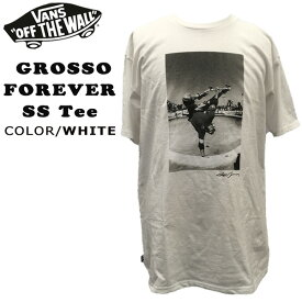 US VANS GROSSO FOREVER SS Tee WHITE Tシャツ ジェフグロッソ バンズ ヴァンズ メール便配送