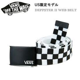 バンズ ヴァンズ US限定モデル DEPPSTER WEB BELT BLACK/WHITE ベルト あす楽