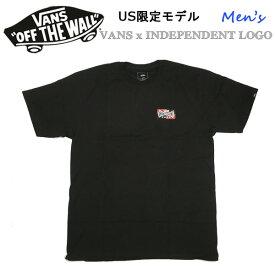 バンズ ヴァンズ US限定モデル VANS x INDEPENDENT LOGO S/S BLACK Tシャツ インディ