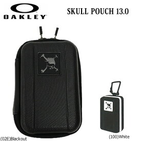 ゴルフ ポーチ ハードケースタイプ オークリー OAKLEY SKULL POUCH 13.0 カラビナ付き 9×15×4cm あす楽