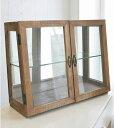 【Display Glass Cabinet(Brown)】ディスプレイガラスキャビネット