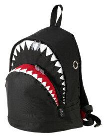 【MORN CREATIONS】シャークバックパック(black/L)2色 モーンクリエーションズ 各種サイズ リュックサック たっぷり収納 多ポケット 手作り サメ ダブルジッパー 撥水加工 動物救護活動 インスタ