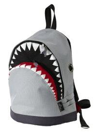 【MORN CREATIONS】シャークバックパック(gray/L)2色 モーンクリエーションズ 各種サイズ リュックサック たっぷり収納 多ポケット 手作り サメ ダブルジッパー 撥水加工 動物救護活動 インスタ 送料無料