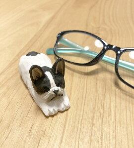 ☆新入荷☆ フレンチブルオブジェ眼鏡スタンド【ウッデンアニマル】木製 手彫り かわいい 手作り フレブル 雑貨 メガネ オーナメント インテリア 家 庭 室内 飾り パイ