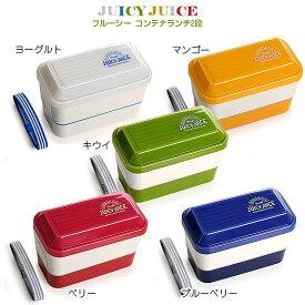 サブヒロモリ フルーシー コンテナランチ2段 お弁当箱 2段 ランチボックス フルーシー 弁当箱 プラスチック 日本製 moyakko