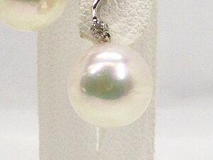 アコヤ真珠ピアス7.5mmD-0.03ctプラチナ