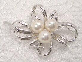 華やかなフラワーモチーフが大人気!svあこや真珠ブローチ   ギフト プレゼント