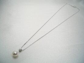 アコヤ真珠ペンダントトップ シルバーチェーン付   ギフト プレゼント