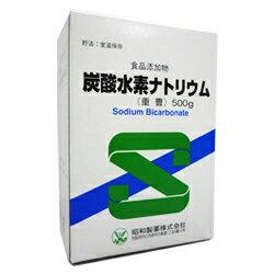 【昭和製薬】 炭酸水素ナトリウム 食品添加物 (重曹) 500g【RCP】【02P03Dec16】