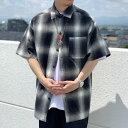 全6色 キャルトップ CALTOP USA カルトップ チェックシャツ オンブレチェック 半袖 OMBRE CHECK S/S SHIRT USA製 ブラ…