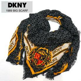 ダナキャラン DKNY スカーフ 大判 ストール 1989 BIG SCARF ブラック 黒 BLACK マフラー