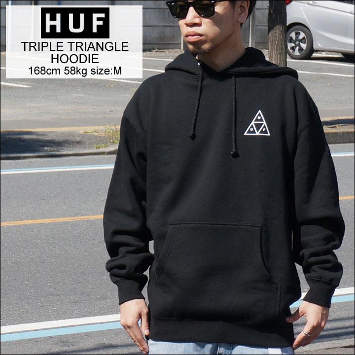 HUF ハフ パーカー TRIPLE TRIANGLE HOOD フーディー ブラック 黒 定番 送料無料