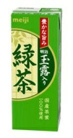 明治 玉露入り緑茶200ml×24本【常温保存可能】【玉露】【深蒸し茶】