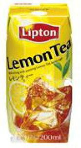 森永乳業【リプトンレモンティー】常温保存可能★200ml×24個入リプトンが厳選したセイロン茶葉100%で煎れた紅茶に天然レモン果汁を加えて仕上げたレモンティー♪
