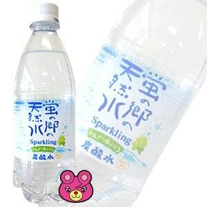 友桝飲料 蛍の郷の天然水 ほんのり白ぶどうスパークリング PET500ml×24本入