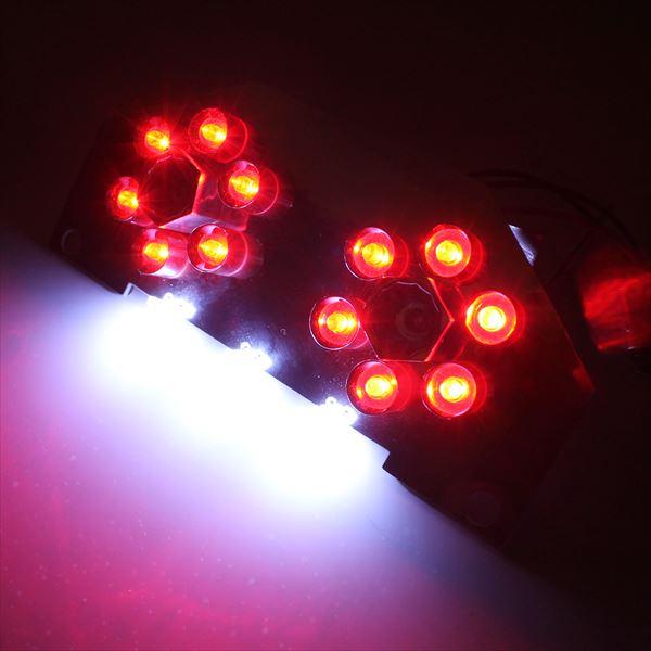【メール便】NEW アドレス V125S LEDテールランプ ブラーキランプ スズキ 砲弾型 LED14灯 ナンバー灯付き 電球 ニューアドレス テールライト バイク用品 パーツ 原付 スクーター 単車 二輪 カスタム
