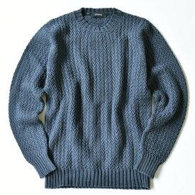 ALPHA STUDIO Cable knit アルファステューディオ ケーブルニット