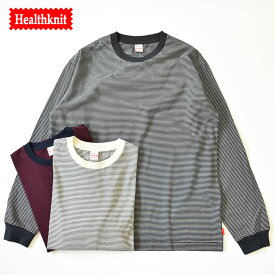 Healthknit long sleeve crew neck Narrow Border T-shirt ヘルスニット 長袖 クルーネック ナローボーダーTシャツ 51006 半袖 メンズ レディース ユニセックス カットソー