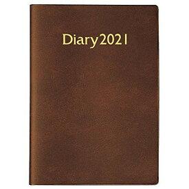 コクヨ ビジネスダイアリー 手帳 2021年 A5 ウィークリー 茶 ニ-5-21 2021年 1月始まり
