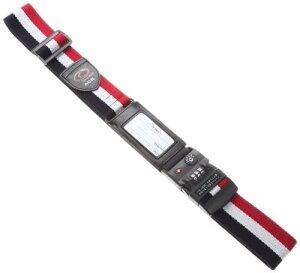 (タビトモ) スーツケースベルト TSAロック付 195cm 品番32567 195 cm 0.2kg マルチストライプ(ホワイト)