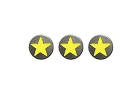 ダムトラックス(DAMMTRAX) ヘルメットバイザーパーツ STAR DOT YELLOW