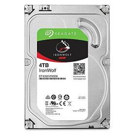 """【送料無料】Seagate IronWolf 3.5"""" 4TB 内蔵ハードディスク HDD 3年保証 6Gb/s 64MB 5900rpm 24時間稼動 PC NAS向け ST4000VN008"""