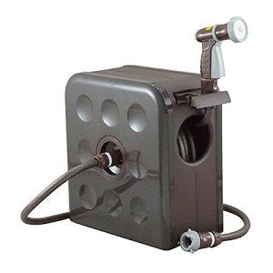 三洋化成 S-BOXリール 12mm防藻耐圧ホース 20m ブラウンメタリック SBX-S207R