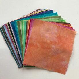 パッチワーク 生地 ムラ染め生地キャシーマム カットクロスセット40色すべてがわかるカットクロスNO.1からNO.59まで入っています。(20色廃番 NO.59は新色)lani dai fabric15×15cmカットクロス