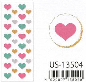 Clothes.Pin Seal Collection グリッターシール /グリッターハート US-13504