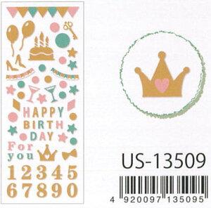 Clothes.Pin Seal Collection グリッターシール /グリッターバースデー US-13509
