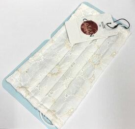 【おしゃれエチケットマスク】 花柄/ホワイト 肌に優しいふんわりガーゼ2枚入り。 洗って繰り返し使えます!!