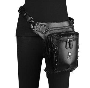 レッグバッグ メンズ  レディース PUNKパンクバッグ ウエストバッグ ショルダーバッグ ヒップバッグ レッグポーチ 斜めがけ 鞄 かばん アウトドア バイクボディバッグ コスプレバッグ