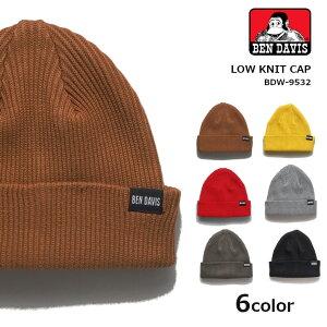 BEN DAVIS ベンデイビス CLOW KNIT CAP ネームタグ ニットキャップ (BDW-9532) キャップ 帽子 メンズ レディース カジュアル アメカジ ブランド