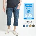 【セール】LEVIS Levi's リーバイス クロップドパンツ 505 レギュラークロップド 7分丈 (282290031) TransDRY ストレッチ 涼しいパンツ クロップドデニム 7分丈パンツ 春夏用 メンズ カジュアル アメカジ ブランド りーばいす あす楽 送料無料