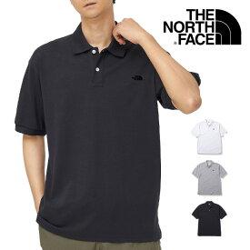 THE NORTH FACE ザ ノースフェイス ワンポイントロゴ刺繍 半袖ポロシャツ (NT21943) ポロシャツ 半袖 メンズ カジュアル アメカジ アウトドア ブランド 送料無料