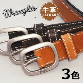 WRANGLER ラングラー レザーベルト 牛革 日本製 ステッチ (WR4027) ベルト 本革 メンズ カジュアル アメカジ ブランド あす楽 エムズサンシン