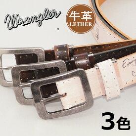 WRANGLER ラングラー レザーベルト 牛革 日本製 スクリプト (WR4031) ベルト 本革 メンズ カジュアル アメカジ ブランド あす楽 エムズサンシン