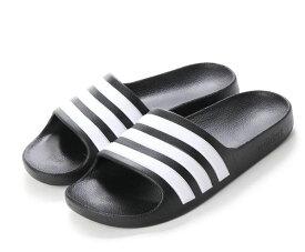 軽量サンダル アディダス adidas アディレッタアクアK ブラック ホワイト 18~21cm