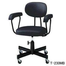 ノーリツイス スタンダード事務用チェア・事務椅子 肘付・手動上下調節・塗装脚 T-230MB【送料無料】