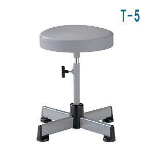 ノーリツイス 作業用チェア 丸イス・丸椅子・患者用椅子 上下調節ハンドルタイプ レザー T-5 【送料無料】