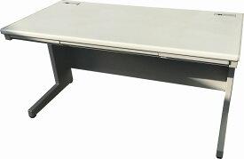 ウチダ 平デスク(平机)W1400,D700,H700ミリ天板ペールグレイ色 本体マイルドグレー色【中古】 【送料無料】