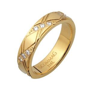 リング 指輪 レディース メンズ ペア ステンレス ジルコニア クロス ゴールド アクセサリー ジュエリー 金属アレルギー アレルギーフリー プレゼント 贈り物 ギフト シンプル 送料無料 9号 11