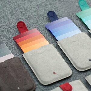 カードケース DAX-1 キャシュレス スリム カードホルダー カード入れ メンズ レディース 5枚収納 スライド式 クレジットカード ICカード レザー 大容量 カードウォレット かっこいい かわいい[