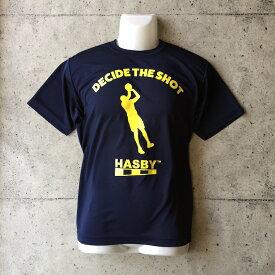 HASBY バスケットボールTシャツ ドライシルキー decide the shot ネイビー basketball t-shirts ハスビー color navy