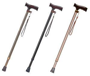 【伸縮 ベーシック杖】木製グリップが手に馴染みます。杖 つえ ステッキ 軽量 杖 男性 おしゃれ お洒落 可愛い 綺麗 伸縮 ベーシック 握りやすい 頑丈 送料無料 介護用品 売れ筋 折りたたみ