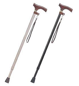 【伸縮杖スリムタイプ】木製グリップが手に馴染みます。杖 つえ ステッキ 軽量 男性 おしゃれ お洒落 可愛い 綺麗 伸縮 スリム 送料無料 握りやすい 頑丈 介護用品 売れ筋 折りたたみ はで