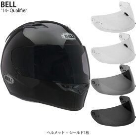 BELL 2点セット Qualifier 14-19年 現行モデル Gloss Black ヘルメット & シールド