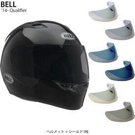BELL 2点セット Qualifier 14-19年 現行モデル Gloss Black ヘルメット & イリジウムシールド
